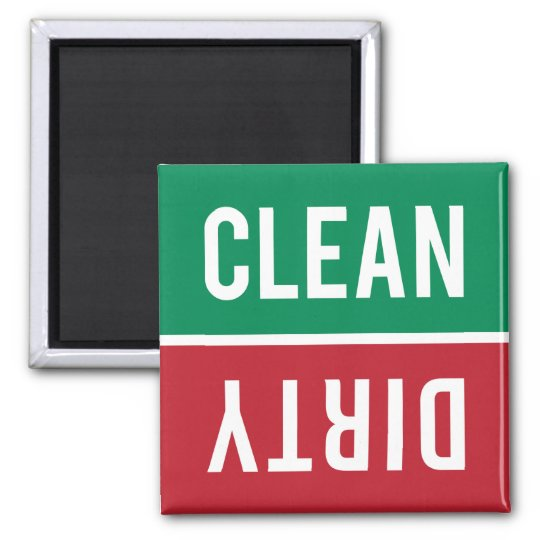 Dishwasher Magnet CLEAN | DIRTY - Green &