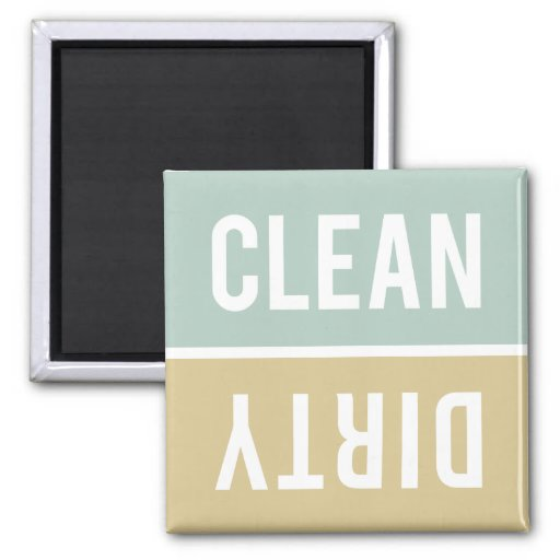 Dishwasher Magnet CLEAN | DIRTY - Green Tan
