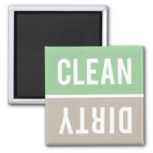 Dishwasher Magnet CLEAN | DIRTY - Green Taupe
