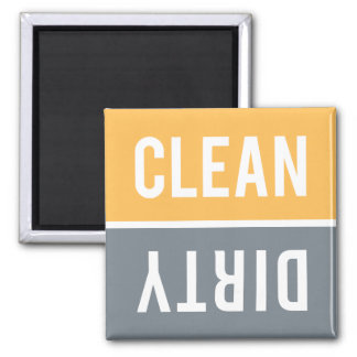 Dishwasher Magnet CLEAN | DIRTY - Orange Grey
