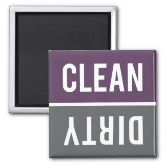 Dishwasher Magnet CLEAN | DIRTY - Purple & Gray