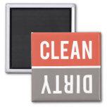 Dishwasher Magnet CLEAN | DIRTY - Red Orange Grey
