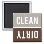 Dishwasher Magnet CLEAN | DIRTY - Stone Grey Brown