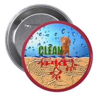 Dishwasher magnet: dirty/clean 7.5 cm round badge