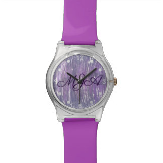 Disillusioned Bling | Monogram Purple Silver | Watch