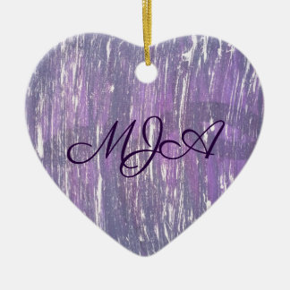 Disillusioned Holiday | Monogram Purple Silver | Christmas Ornament