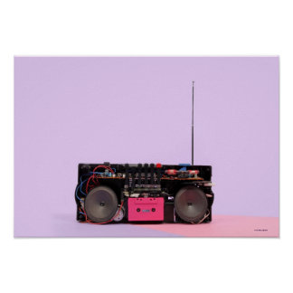 Dismantled Portable Stereo Poster