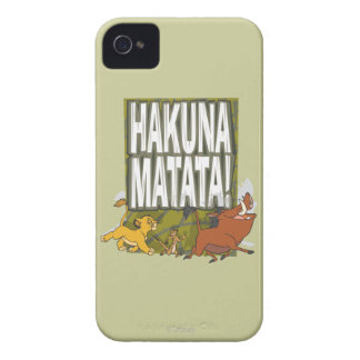 Disney Lion King Hakuna Matata! iPhone 4 Case-Mate Cases