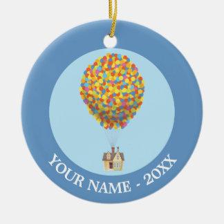 Disney Pixar UP   Balloon House Pastel Round Ceramic Decoration