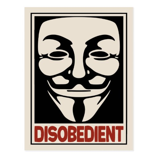 Disobedient Post Card
