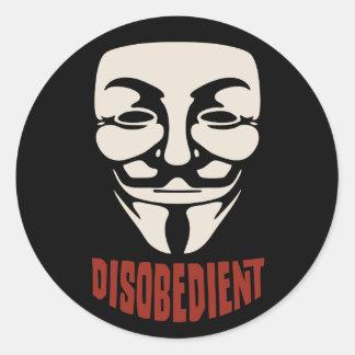 Disobedient Round Sticker