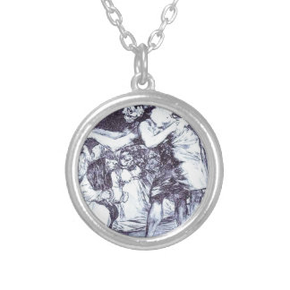 Disordered by Francisco Goya Round Pendant Necklace