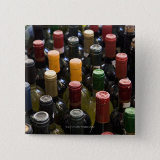 dispaly fo wine bottles in market, Campo di 15 Cm Square Badge