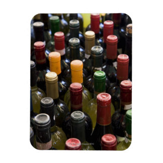 dispaly fo wine bottles in market, Campo di Rectangular Photo Magnet