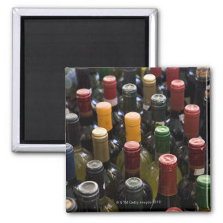 dispaly fo wine bottles in market, Campo di Square Magnet