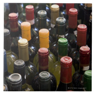 dispaly fo wine bottles in market, Campo di Tile