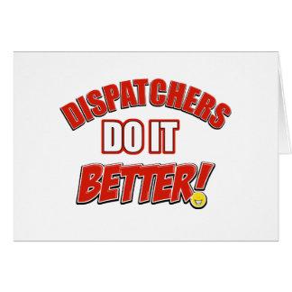 Dispatchers Job designs Greeting Cards