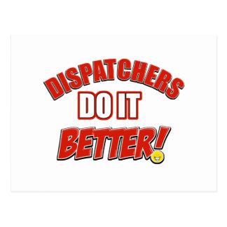 Dispatchers Job designs Postcard