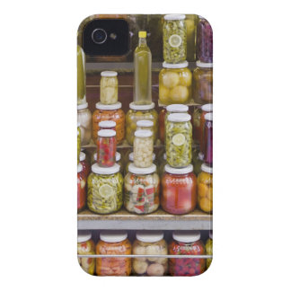 Display of pickled fruits and vegetables. iPhone 4 cases