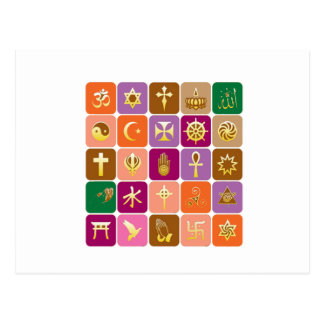 DISPLAY only :Decorative Religious ICONS Postcard