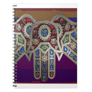 DISPLAY only :Decorative Religious ICONS Spiral Note Book