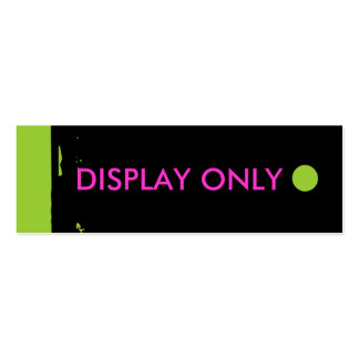 """""""DISPLAY ONLY"""" Hang Tag Business Card Template"""