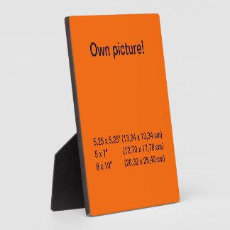 Display orange square photo plaque