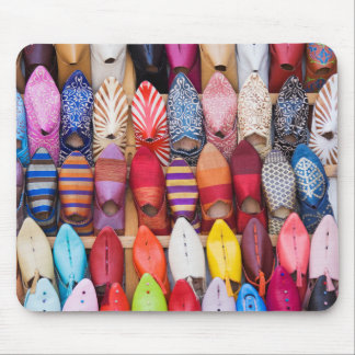 Displayed shoes in a shop in the souks mouse mat