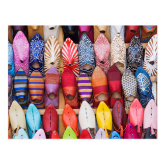 Displayed shoes in a shop in the souks post cards