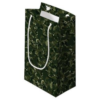 Disruptive khaki camouflage small gift bag