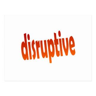 disruptive postcard
