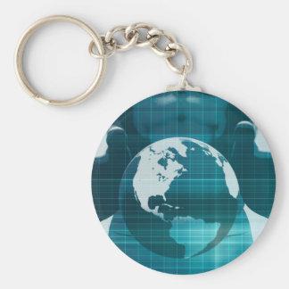 Disruptive Technologies or Technology Disruptor Basic Round Button Key Ring