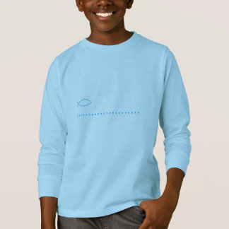 disseño funny with fish naïf of blue color T-Shirt