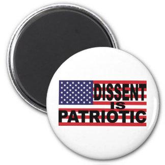 Dissent is Patriotic 6 Cm Round Magnet