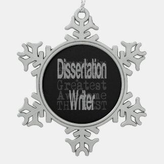 Dissertation Writer Extraordinaire Pewter Snowflake Decoration