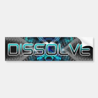 Dissolve Bumper Sticker