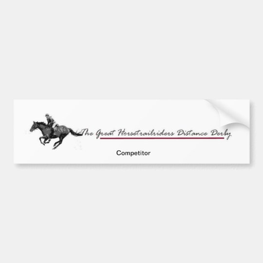 Distance Derby Bumper Sticker