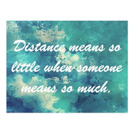 Distance means so little postcard