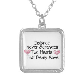 Distance never separates... silver plated necklace