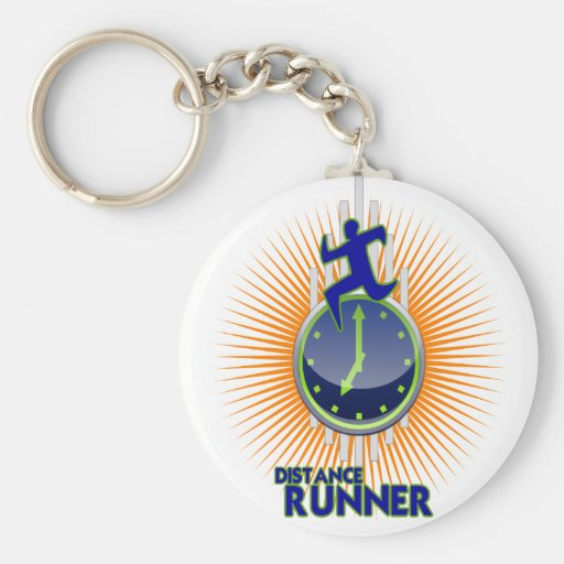 DISTANCE RUNNER PRODUCTS BASIC ROUND BUTTON KEY RING