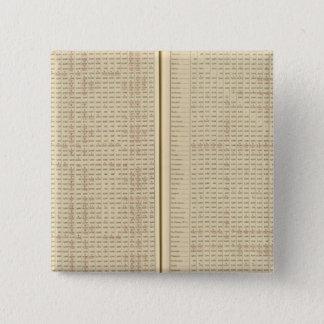 Distances between ports 15 cm square badge