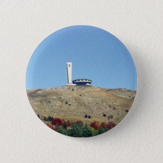 Distant Buzludzha, Balkan Mountains, Bulgaria 6 Cm Round Badge