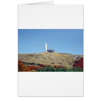 Distant Buzludzha, Balkan Mountains, Bulgaria Card