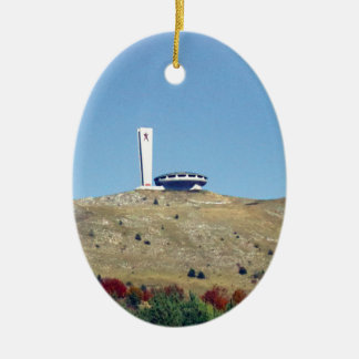 Distant Buzludzha, Balkan Mountains, Bulgaria Christmas Ornament