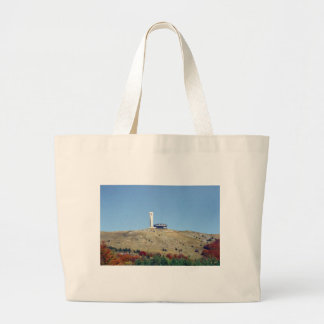 Distant Buzludzha, Balkan Mountains, Bulgaria Large Tote Bag
