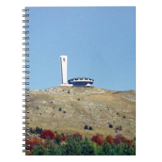 Distant Buzludzha, Balkan Mountains, Bulgaria Notebook