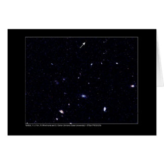 Distant Galaxies Hubble Telescope Card