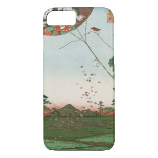 Distant view of Akiba of Enshu, kites of Fukuroi iPhone 7 Case