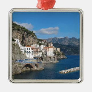 Distant view of Atrani on Amalfi coast Christmas Ornament