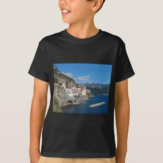 Distant view of Atrani on Amalfi coast T-Shirt